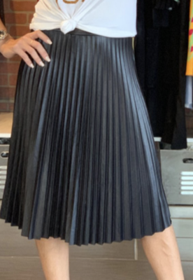 Black Plissada Skirt
