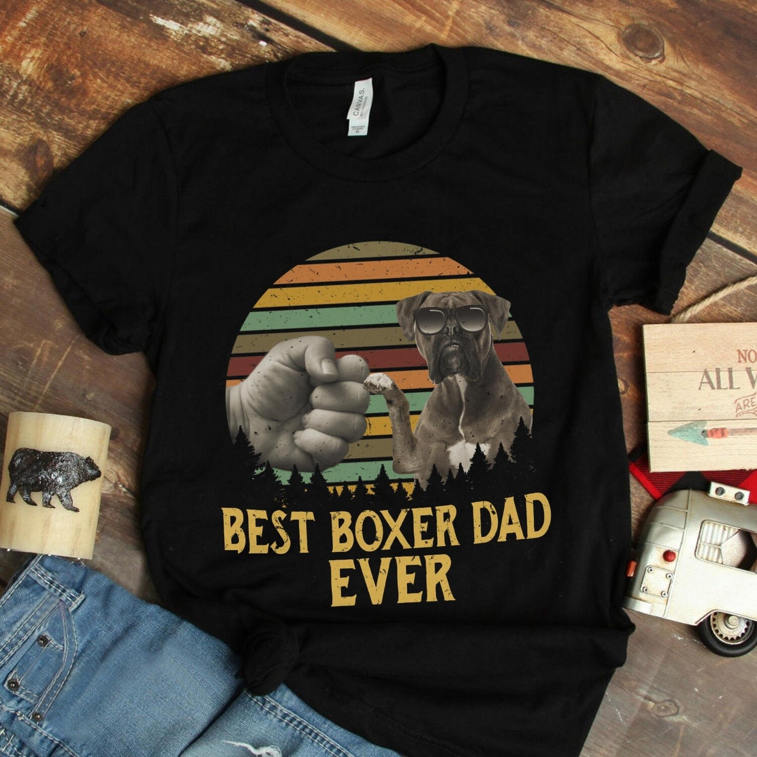 This Is What An Awesome Boxer Looks Like Mens Funny Hoodie