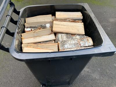 Wheelie Bin Full Of Kiln Dried Hardwood Logs