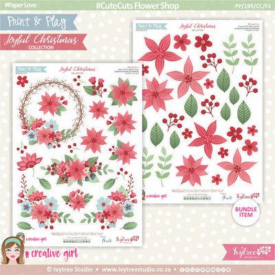 PP/199/CC/FS - Print&Play - CUTE CUTS - Flower Shop - Joyful Christmas Collection