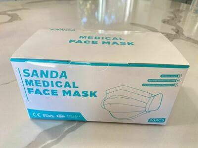 Medical Level 3 Face Mask, 3-PLY Disposable, Pack of 50