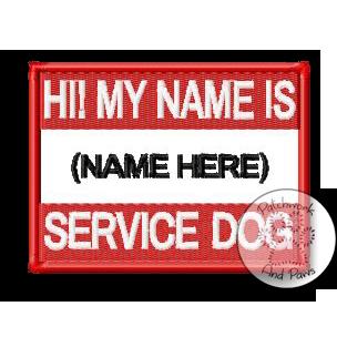 Service Dog Name Tag