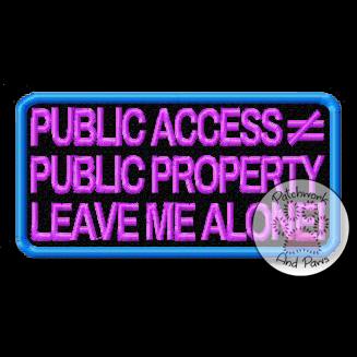 Public Access =/= Public Property