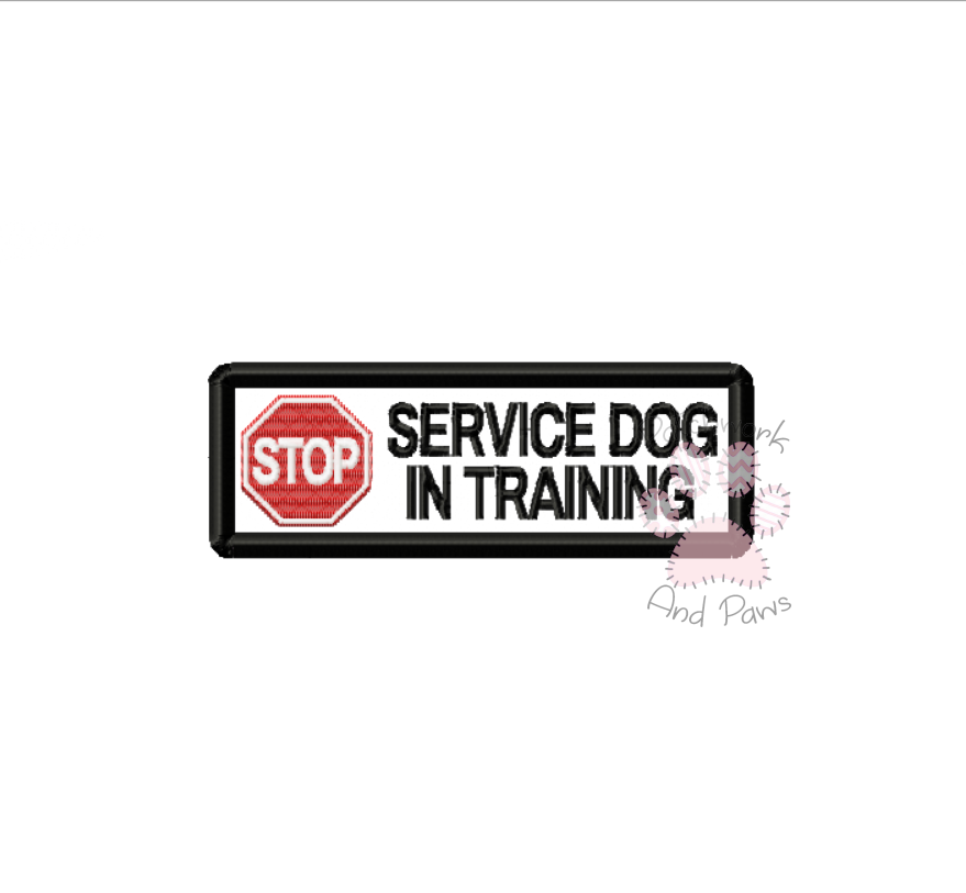 Stop Service Dog In Training