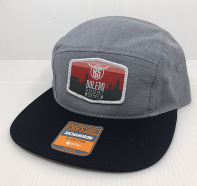 5 Panel Grey Skyline Hat