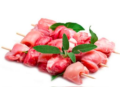 Spiedini misti con carne di tacchino e maiale