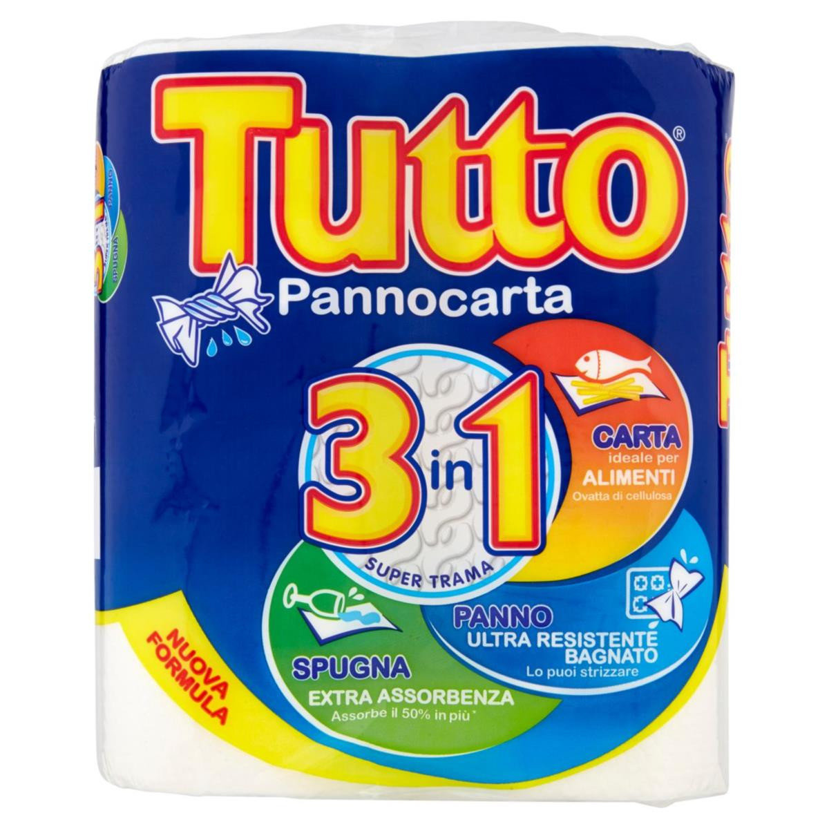 Carta Casa 3 In 1 Tutto Pannocarta 2 pz