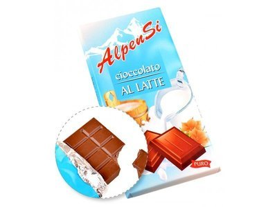 Cioccolato Al Latte Alpensi 100 gr