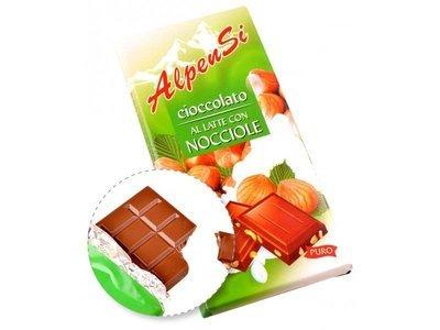 Cioccolato Al Latte Con Nocciole Alpensi 100 gr