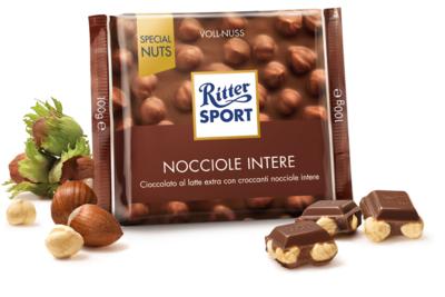 Ritter Sport Cioccolato Latte e Nocciole 100 gr