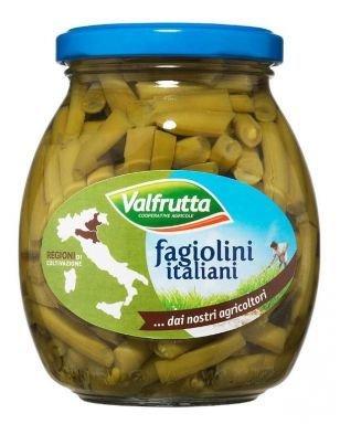 Fagiolini Lessati Valfrutta Vaso Vetro 360 gr