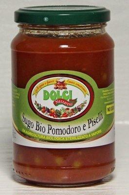 Sugo Bio Pomodoro e Piselli Dolci Nazzareno 340 gr