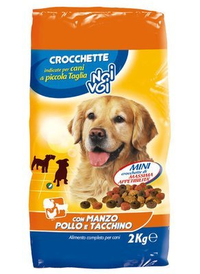 Crocchette Con Manzo Pollo e Tacchino Noi&Voi 2 kg