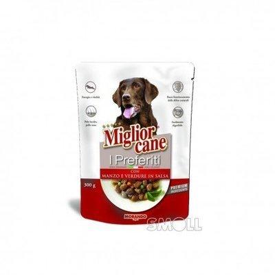 Miglior Cane I Preferiti Con Manzo e Verdure Busta 300 g
