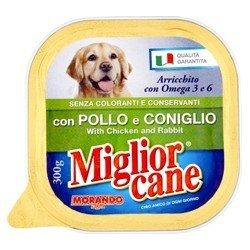 Miglior Cane Vaschetta Con Pollo e Coniglio 300 g