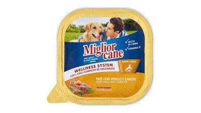 Miglior Cane Vaschetta Con Vitello e Carote 300 g