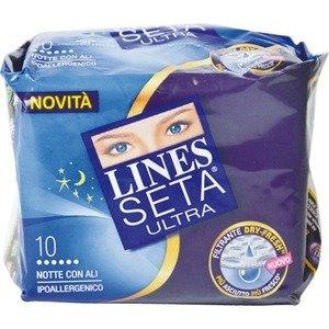 Assorbente Notte Con Ali Lines Seta Ultra 10 pz