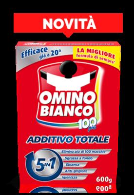 Omino Bianco Cento Più Additivo Totale 430 gr