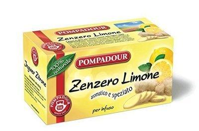 Infuso Pompadour Zenzero Limone 20 filtri