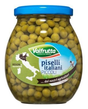 Piselli Piccoli Valfrutta Vaso Vetro 360 gr