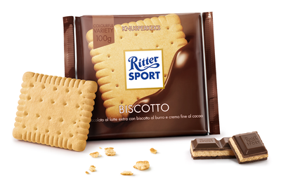Ritter Sport Cioccolato e Biscotto 100 gr