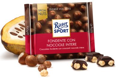 Ritter Sport Cioccolato Fondente e Nocciole 100 gr