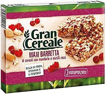 Barrette Gran Cereale Mulino Bianco Mandorle e Mirtilli 135 gr