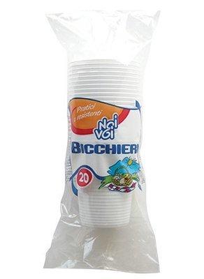 Bicchieri In Plastica Bianchi Noi&Voi 20 pz