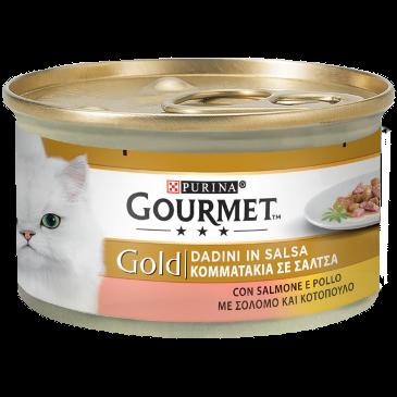 Gourmet Gold Con Salmone e Pollo Scatoletta 85 g