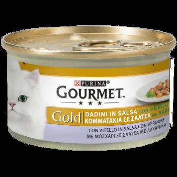 Gourmet Gold Con Vitello e Verdure Scatoletta 85 g