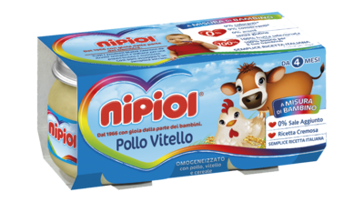 Omogeneizzati Pollo Vitello Nipiol 160 gr