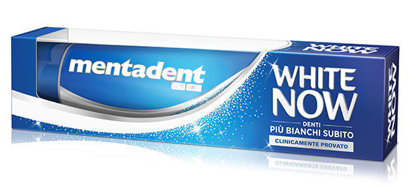 Dentifricio Mentadent White Now 75 ml