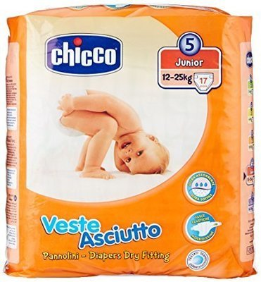 Pannolini Chicco Veste Asciutto 12-25 Kg taglia 5 junior