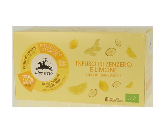 Infuso Zenzero e Limone 20 filtri Bio Alce Nero