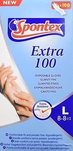 Guanti Monouso Spontex Misura Large 100 pz