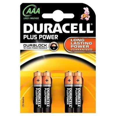 Pile Duracell Mini Stilo AAA 4 pz