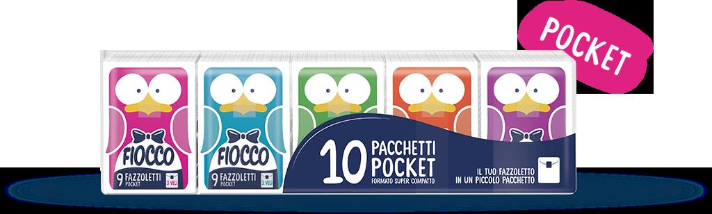 Fazzoletti Fiocco Pocket Kids 10 pz