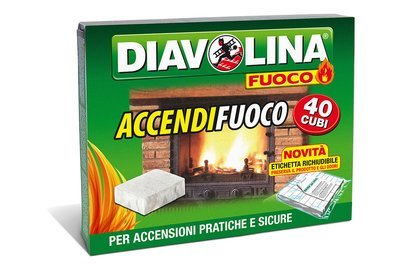 Accendifuoco Diavolina Cubetti 40 pz