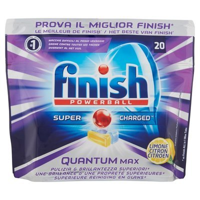 Finish Quantum Power Ball 20 Lavaggi 310 gr