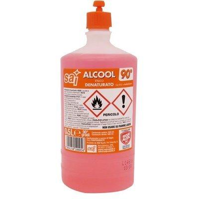 Alcool Denaturato Sai 90° 0,5 lt