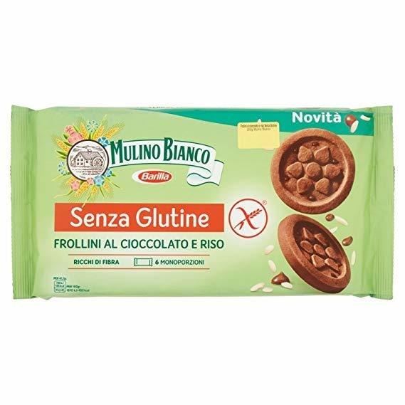 Biscotti Frollini al Cioccolato e Riso Senza Glutine Mulino Bianco 250 g