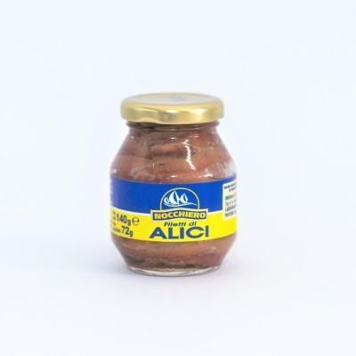Filetti di Alici Vaso Vetro Nocchiero 140 g