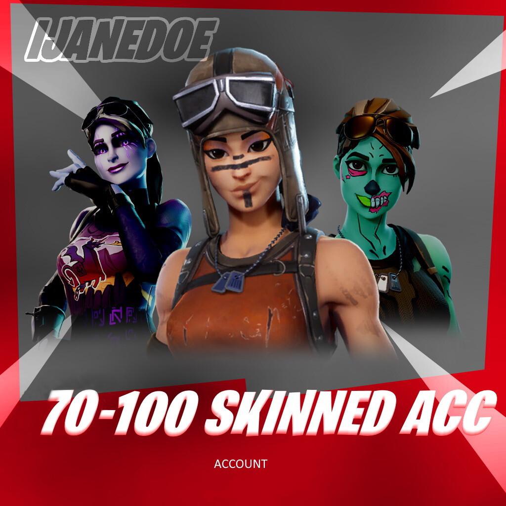 70-100 Skinned Account