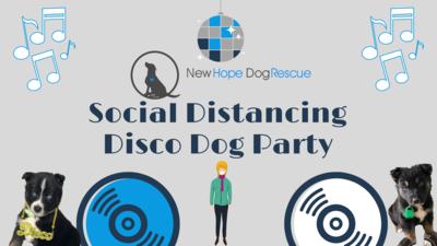 Social Distancing Disco Dog Party Ticket
