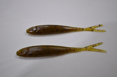 Green Pumpkin, Red Flake Fluke Jerk Bait