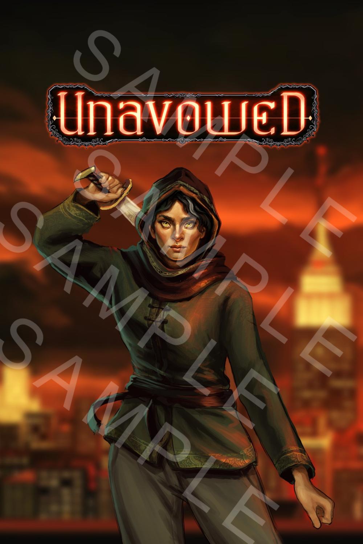 "UNAVOWED - Mandana 4""x6"" Postcard"