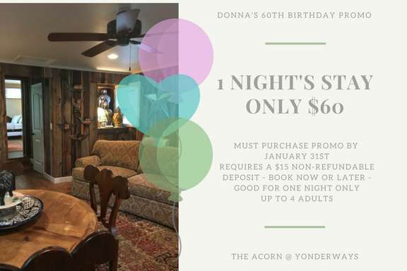 Donna's Birthday Promo promo-jan