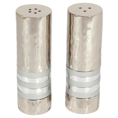Emanuel Salt and Pepper Shakers - Silver Band