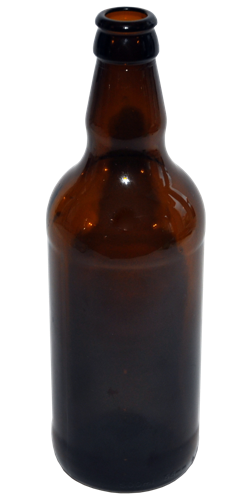 24 x 500ml Amber Beer Bottles with Gold Crown Caps