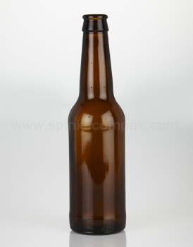 330ml Amber Beer Bottles with Gold Crown Caps